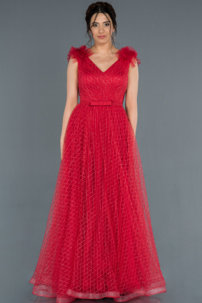 Red Long Engagement Dress ABU1179