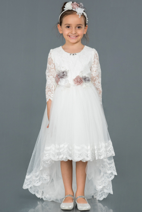 Long White Girl Dress ABU1277