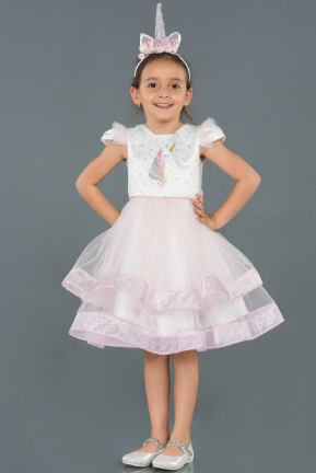 Short Pink Girl Dress ABK794
