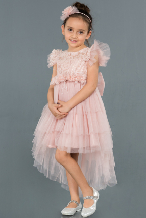 Short Powder Color Girl Dress ABK795