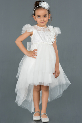 Short White Girl Dress ABK795