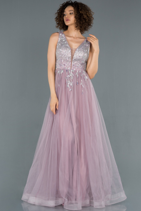 Long Lavender Engagement Dress ABU1414