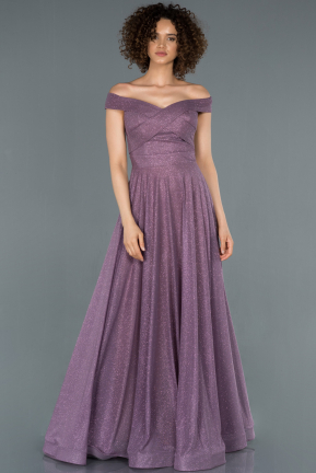 Lavender Long Engagement Dress ABU885