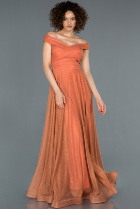 Long Light Brown Engagement Dress ABU880