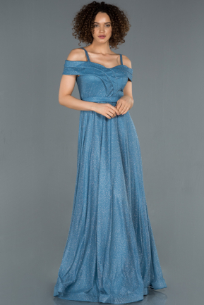 Long Indigo Evening Dress ABU1354