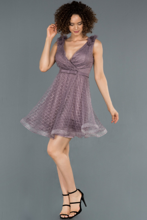 Short Lavender Prom Gown ABK819