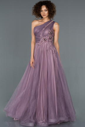 Long Lavender Engagement Dress ABU1426