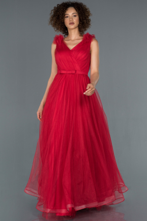 Long Red Engagement Dress ABU1180