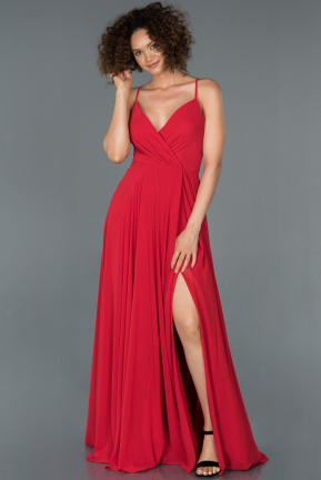 Red Long Prom Gown ABU1305