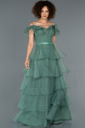 Long Mint Engagement Dress ABU1419