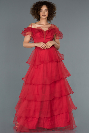 Long Red Engagement Dress ABU1419