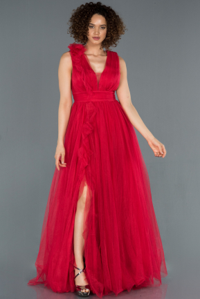 Long Red Engagement Dress ABU1335