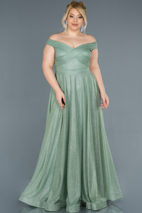 Turquoise Long Plus Size Evening Dress ABU1365