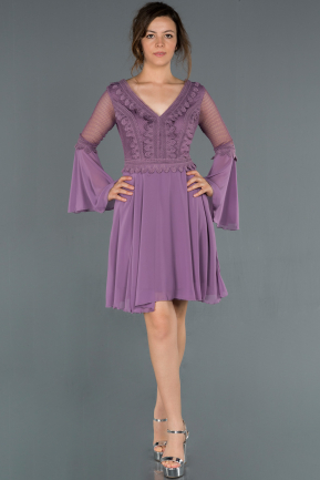Short Lavender Evening Dress ABK850