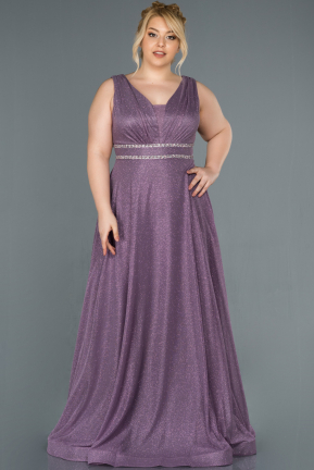 Lavender Long Plus Size Evening Dress ABU963