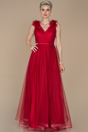 Long Red Engagement Dress ABU1392