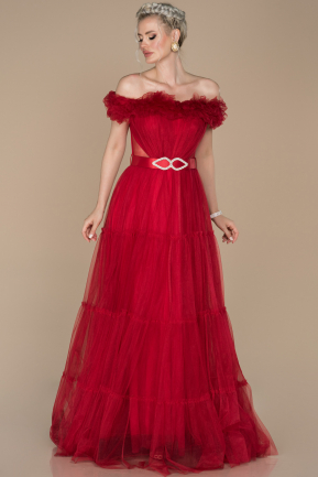 Red Long Engagement Dress ABU1397