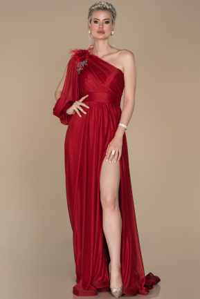 Red Long Engagement Dress ABU1398