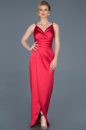 Red Long Engagement Dress ABU564