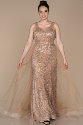 Long Copper Oversized Evening Dress ABU1401