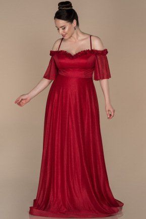 Long Red Plus Size Evening Dress ABU1405