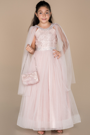 Long Rose Colored Girl Dress ABU1423