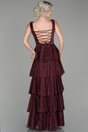 Burgundy Long Engagement Dress ABU524