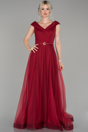 Red Long Engagement Dress ABU1435