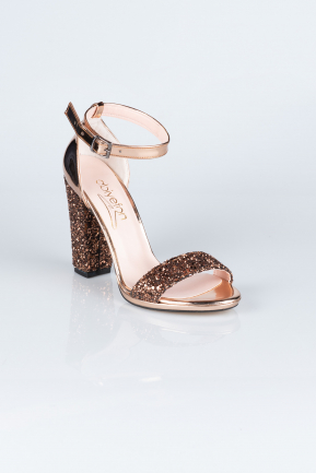 Copper Silvery Evening Shoes AB1004