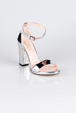 Silver Mirror Evening Shoe AB1004