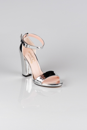 Silver Mirror Evening Shoe AB1012