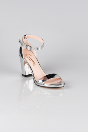 Silver Mirror Evening Shoe AB1039