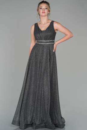 Anthracite Long Engagement Dress ABU1272