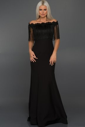 Long Black Evening Dress ABU010