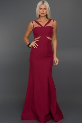 Long Plum Evening Dress C7239