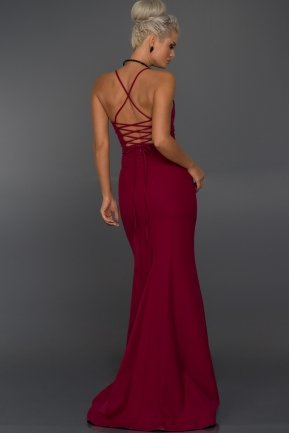 Long Plum Evening Dress AB7245