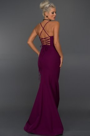 Long Violet Evening Dress ABU043