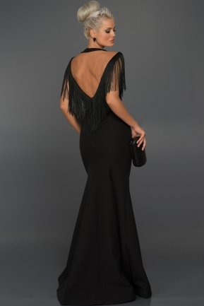 Long Black Evening Dress ABU017