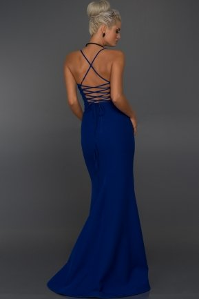 Long Sax Blue Evening Dress ABU043