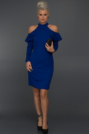 Short Sax Blue Evening Dress C8071