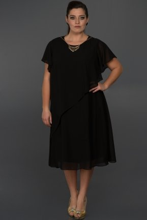 Short Black Oversized Evening Dress C9030