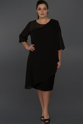 Short Black Evening Dress ABK049