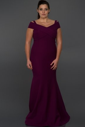 Long Violet Oversized Evening Dress C9500