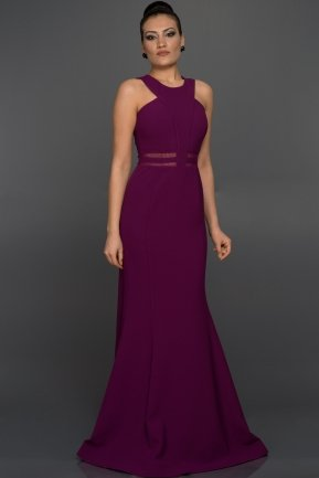 Long Purple Evening Dress W6004
