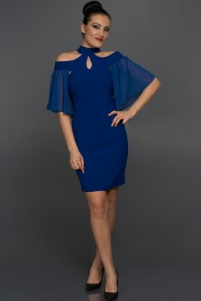 Short Sax Blue Evening Dress W7005