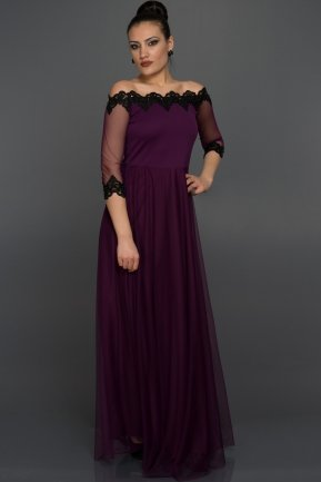 Long Purple Evening Dress AR36830