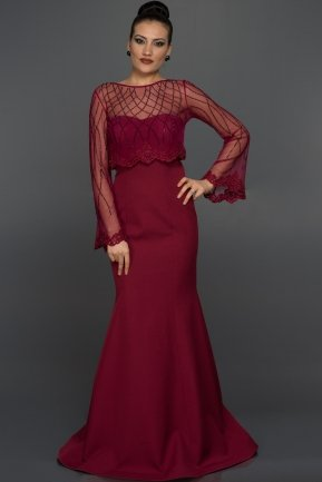 Long Plum Prom Dress C7226