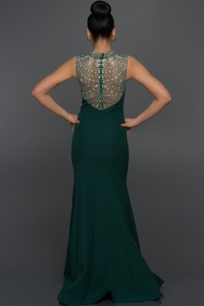Long Emerald Green Evening Dress C7257