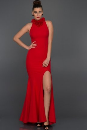Long Red Evening Dress F2878