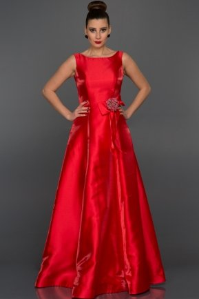 Long Red Evening Dress F2964